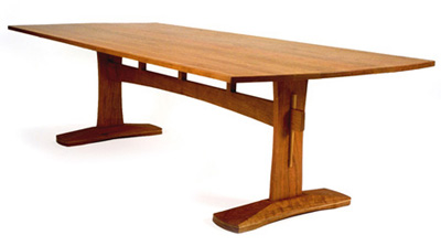 Michael Hoy Woodworking Trestle Table